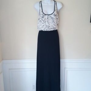 NWOT Tart Racerback Mixed Media Maxi Dress L